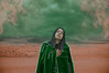 Draw (Kathy Chareun) Tags: san arena cloud dia day nube sky cielo green verde desierto hood capa draw dibujar paint pintura hair pelo woman mujer femme girl surreal surrealismo surrealistic ps photoshop lr lightroom art arte