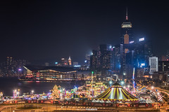 Fun City (Antoni Figueras) Tags: hongkong china night themepark centralplaza skyline conventionandexhibitioncentre sony2470f4 sonya7rii