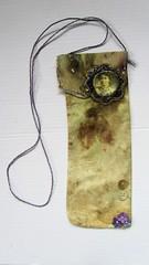 Bag for a hunger striker (scrappy annie) Tags: bag mixedmedia fiberart fibreart fiberartist freemachineembroidery feministart textileart textileartist
