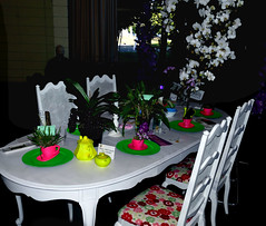 #13 in a series: the 2018 pacific orchid exposition; alice in wonderland theme table 2-18 (nolehace) Tags: theme table 218 sfos poe pacificorchidexposition pacific orchid exposition flower bloom plant winter nolehace sanfrancisco fz1000 series goldengatepark county fair building