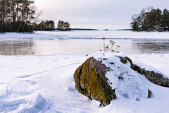 Aitolahti Frozen Lake (Niksuski) Tags: ice lake finland landscape winter snow rock horizon water wideangle nikond7200 sigma1835mmf18art europe tampere tammerfors nordic northerneurope