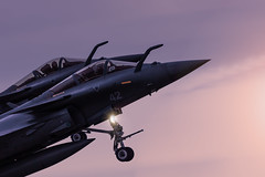 Take-off (hepic.se) Tags: evening color cockpit colours colourful closeup military marine dassault rafale france marinenationale probe light sunset sky summer flying fighter formation french aircraft airforce airplane aviation action takeoff pair pilot landing nose