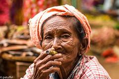 Old woman smoking a cigar (cheroot) - Bagan, Myanmar (patuffel) Tags: bagan myanmar cigar old woman lady burma cheroot leica 50mm summicron in explore