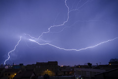 Electric half second (Lolo_) Tags: lightning storm marseille éclair orage city foudre night nuit strike ville france saintlouis sky electric bolt cell