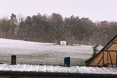 Cold Bastion (Thomas Listl) Tags: thomaslistl color snow snowfall forest trees barn field nature landscape cold roof winter facade rural ngc farm country rustic 100mm