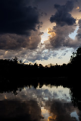 Mill Pond 4 (AAWWSS) Tags: pond lake water nature landscape sky strom silhouette dark
