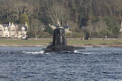 Unidentified RN nuclear powered Astute-class attack submarine; Loch Long, Cowal Peninsula, Argyll & Bute, Scotland (Michael Leek Photography) Tags: ship submarine warship navalvessel navalship faslane clyde lochlong astuteclass nuclearsubmarine cowal cowalpeninsula argyllandbute argyll rn hmnbclyde gareloch nato britainsnavy britainsarmedforces royalnavy firthofclyde westcoastofscotland westernscotland scottishshipping scotland scottishlandscapes scottishcoastline scotlandslandscapes michaelleek michaelleekphotography