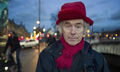 Raphaël (JoChristo) Tags: portrait stranger paris leica leicaq streetphotography life eyes france fineartphotography louvre chapka rouge seine man