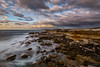 Flow back (Crouchy69) Tags: sunrise dawn landscape seascape ocean sea water coast clouds sky rocks long exposure potter point kurnell sydney australia