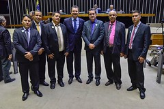 prefeito de Sâo Sebastião do Alto e equipe