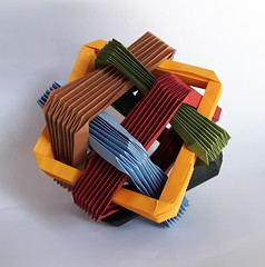 Six Intersecting Squares (orig4mi.) Tags: origami paperfolding