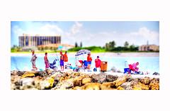 A Day At The Beach Series (daystar297) Tags: streetportrait beach water rocks sky fishing pier people fun vacation fortpierce florida southflorida treasurecoast nikon photoshop