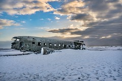 A Successful Landing (Clint Everett) Tags: sólheimasandur plane wreck iceland vik beach crash navy wreckage winter snow landscape sky clouds airplane