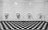 Wanna play chess? (michael_hamburg69) Tags: hamburg germany deutschland muster pattern schachbrett urinal urinals urinale wc gekachelt schwarz weiss toilet checker chequer mensroom menstoilet