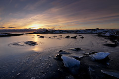 Frozen sunrise (Tdyy) Tags: d7200 darktable linux nikon ubuntu norway lofoten arctic sea seascape sunrise sunset ice outdoor landscape reflection