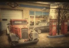 use d-x....(HTT) (BillsExplorations) Tags: truck car vintage retro oldtruck oldcar classic fordfalcon dodgebrothers restored fulton illinois gasstation garage truckthursday rust classictruck classiccar dx