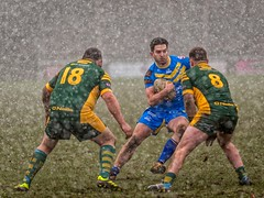 Rugby in the Snow (Chris Willis 10) Tags: rugby snow woolston men people outdoors sport obstaclecourse adult males competition caucasianethnicity lifestyles mudrun muscularbuild competitivesport action strength athlete playing fun activity challenge woolstonrovers warrington