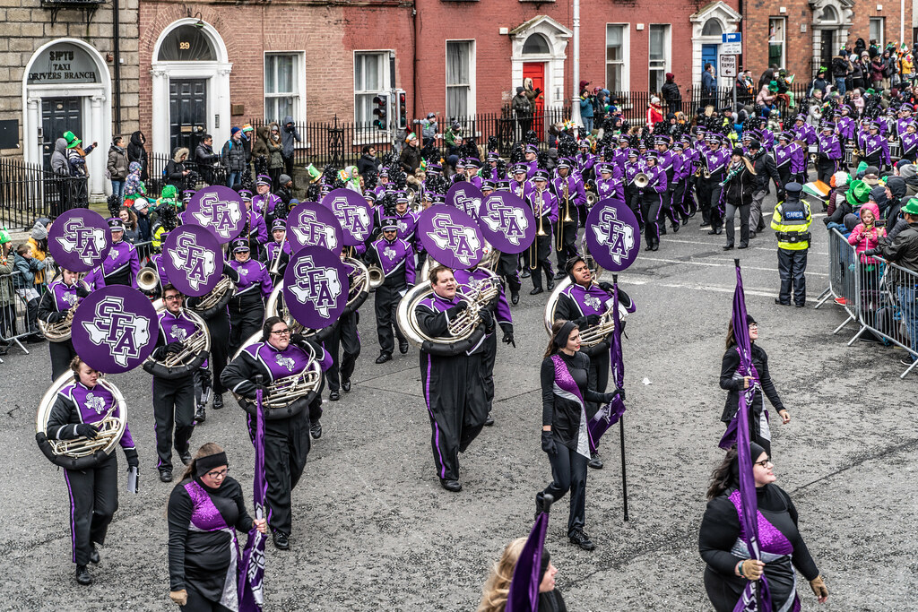THE LUMBERJACK MARCHING BAND IN ACTION [ ST. PATRICKS DAY PARADE IN DUBLIN 2018]-137579