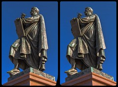 Carl Friedrich Schinkel monument 3-D / CrossEye / Stereoscopy / HDRaw (Stereotron) Tags: berlin spreeathen mitte metropole hauptstadt capital metropolis brandenburg monument schinkel architect europe denkmal germany deutschland crosseye crosseyed crossview xview cross eye pair freeview sidebyside sbs kreuzblick 3d 3dphoto 3dstereo 3rddimension spatial stereo stereo3d stereophoto stereophotography stereoscopic stereoscopy stereotron threedimensional stereoview stereophotomaker stereophotograph 3dpicture 3dglasses 3dimage canon eos 550d chacha singlelens kitlens 1855mm tonemapping hdr hdri raw