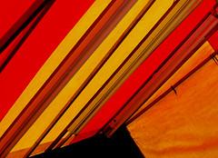 Fair... tent abstract (tina negus) Tags: fair tent abstract diagonals red orange funfair