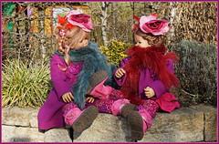Tivi und Anne-Moni ... (Kindergartenkinder) Tags: kindergartenkinder annette himstedt dolls gruga grugapark essen annemoni tivi kostüm hut