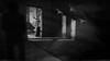 If You Take Me There You'll Get Relief (Gianmario Masala [inworld]) Tags: photoshop blur blurry mono monochrome gianmariomasala blackandwhite highandlowkey shadows photograph indoor north room grain birds rays door seat motion man darkness dark leaks architecture doves textured texture