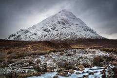 The Mighty Buchaille (Fifescoob) Tags: green glencoe scotland mountain landscape winter cold frozen snow canon leefilters water waterfall