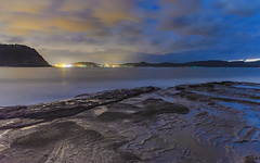 Seascape Cloudy Nightscape (Merrillie) Tags: daybreak sunrise nightscape nature dawn australia rocky centralcoast morning sea newsouthwales rocks pearlbeach nsw water waterscape ocean earlymorning landscape cloudy coastal clouds outdoors seascape nighttime coast sky waves