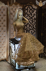 """Soft screen """"Flower"""" and carved screen """"East"""" 1: 4 (JuliaGart) Tags: screen furniture for doll diorama sybarite numina kd devadolls gartung julia scale 14 pandora superfrock"""