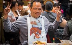 Action hero Enjoying Tasty Lobster (kuntheaprum) Tags: louisianaseafood louiloui seafoodrestaurant lobster clam garlicnoodle shrimp nikon d5300 sigma sigmaart 50mm f14