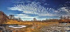 8R9A0149-52Ptzl1scTBbLGER2 (ultravivid imaging) Tags: ultravividimaging ultra vivid imaging ultravivid colorful canon canon5dm3 clouds winter farm scenic snow pennsylvania pa panoramic pond evening lateafternoon landscape sky vista