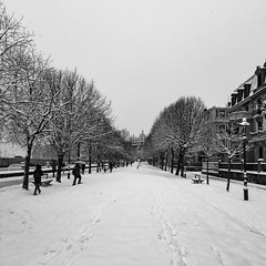 ... Dans La Ville Blanche ... (Lanpernas .) Tags: nieve invierno labestiadeleste 2018 nevada winter hiver paseodefrancia donostia byn cameraphone