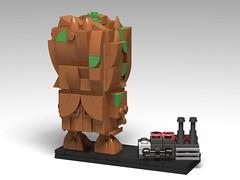 Groot & Detonator BrickHeadz MOC (headzsets) Tags: lego legoideas legomoc legomocs legophotography groot gaurdiansofthegalaxy iamgroot brickheadz