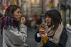 Forget art. Put your trust in ice cream--Charles Baxter (Lorrainemorris) Tags: cinematic people portrait scarfs colours artisticphotography creative batis sony7rm2 dublin asians candid streetphotography icecream