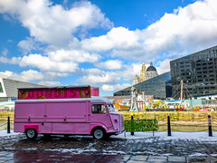 Donuts (tubblesnap) Tags: liverpool merseyside albert dock docks mersey donut street food pink van