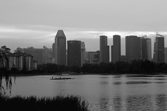 IMG_2093 (jumppoint5) Tags: blackandwhite light shadows reflection city contrast clouds building dragonboat