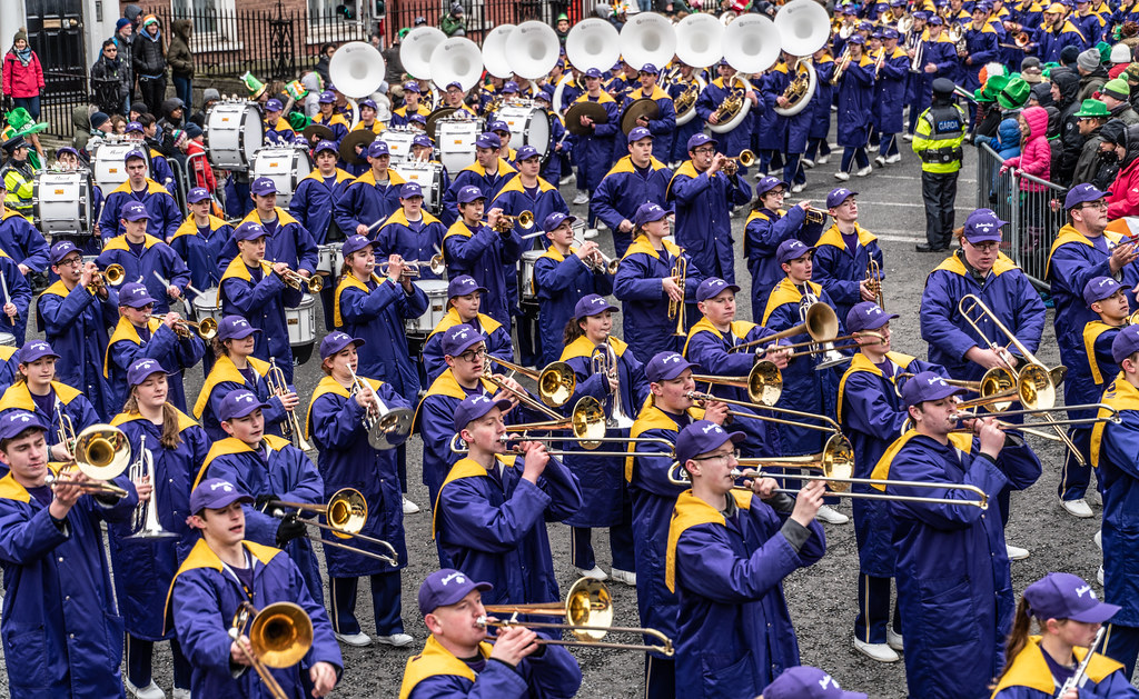 Jackson High School - Purple Army Marching Band [Dublin Patricks Day Parade 2018]-137634