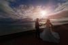 couple at seaside (abtabt) Tags: trinidadandtobago tt portofspain pos sea waterfront atlantic wedding marrage d700sigma1224 seaside seashore couple silhouette water