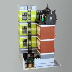 Cavity Corner - Back (Oscar Cederwall (o0ger)) Tags: lego moc modular building corner
