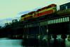 TRAIN AND BRIDGE (R. D. SMITH) Tags: train bridge water reflection engine floridaeastcoast