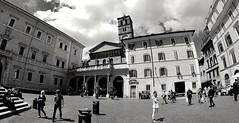 Trastevere,roma (BEN13008) Tags: trastevere roma italia italie capitale nikon blackandwhite chiesa church citta city villeéternelle ngc