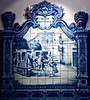 Portuguese Tiles: Galant Scene - Jorge Colaço (1854-1971) (pedrosimoes7) Tags: azulejos tiles azulejosportugueses jorgecolaço shockofthenew artdigital blue azul artgalleryandmuseums
