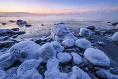 Freezing Cold (tinamar789) Tags: winter cold freezing frozen frost snow sea seashore seascape sunrise seasmoke ice icy water lauttasaari helsinki finland rocks