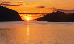 Deception Pass Bridge at Sunset (Deception Pass, WA) (Sveta Imnadze) Tags: nature landscape sunset orage colors ddeceptionpass deceptionpassbridge wa pacificnorthwest