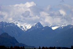 FIRST SNOW ON THE MOUNTAIN TOPS.  FRASER VALLEY,  B.C. (vermillion$baby) Tags: fishtrapcreek abbotsford cloud walk wetland snow mountain peak bc landscape fraservalley winter canada beautifulbc peaks mountains beautifulpacificnorthwest