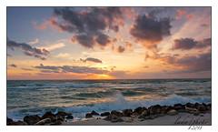 WNW winds. (lada/photo) Tags: gulfofmexico shore sea seascape sunset roughweatheratsea ladaphoto water florida clouds