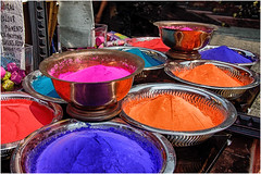 a dip in the color ... Holi Festival ... (miriam ulivi) Tags: miriamulivi indiadelsud polvericolorate coloredpigments colours riflessi reflections nikond7200