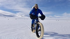Happy to be riding on a high plateau near Laugarfell, East Iceland