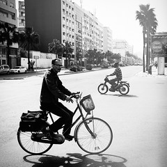 Casablanca on the Move (Fuji and I) Tags: casablanca morocco travel bikes street blackandwhite alexarnaoudov fujix