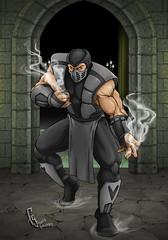 Mortal Kombat - Human Smoke (Franjogutierrez) Tags: smoke humansmoke mortalkombat mortal kombat videogames fanart thriller nightmare fightinggames videojuegos lucha ninja